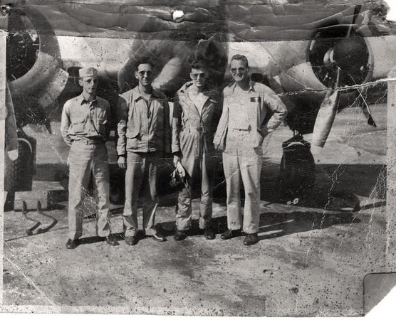 Fran with fellow aviation crew members