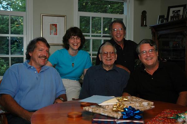 Bob, Sue, Fran Chuck & Rick at Fran's 90th birthday party