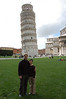 B&P at the Leaning Tower of Pisa!