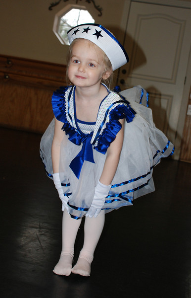 "Hallie got her recitial costume, now were ready for a ""Sea Cruise""!!!"