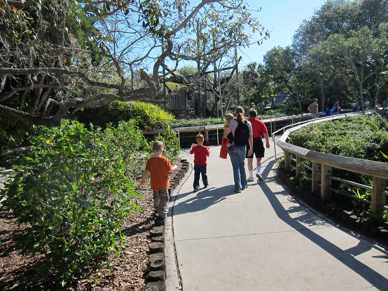 Matthew, Spencer, Bryan, Jenny, Ken, Lowery Park Zoo, Tampa, 3/16/2013