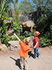 Matthew, Spencer and Dinosaurs, Lowery Park Zoo, Tampa, 3/16/2013