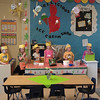 Welcome to the Bearilicious Ice Cream Shop!  One of Norah's kindergarten class projects.  Kids came up with the name, logo, menu, applied for the jobs and took the food handlers test for their food handlers permit.  Culmination was opening day, serving the families.  Yummy!  Norah is in the white polka dot shirt.  She's a server.