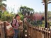 Jenny, Bryan and giraffe, Lowery Park Zoo, Tampa, 3/16/2013