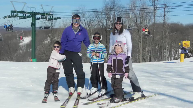 We had a wonderful week end skiing at Hidden Valley.  It was only the second time skiing for Sabrina and Adeline, and they were both doing intermediate slopes by the second day.  Perfect weather (50's in the afternoon) and an excellent base of snow, with no crowds.