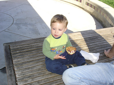 Snack time at the park.