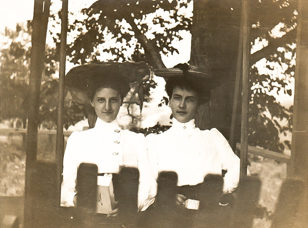 Mable T Marean on left