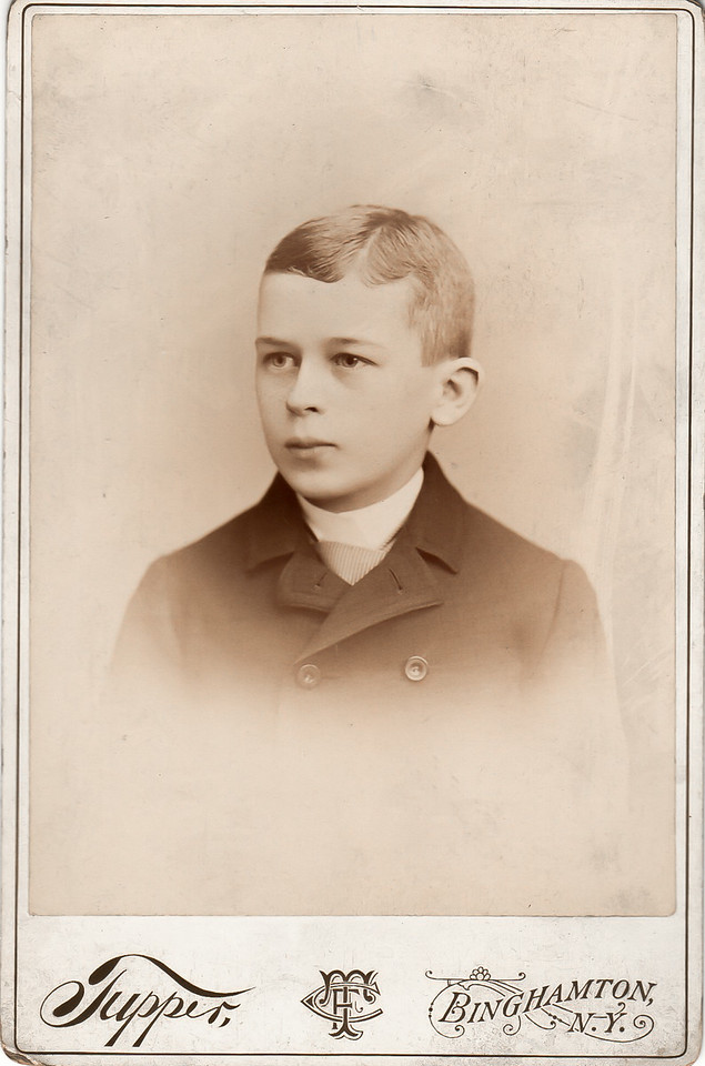 H Elliott Marean as a youth.
