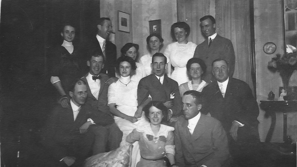 H Elliott Marean, Sr is in the first row at the far left, kneeling.
