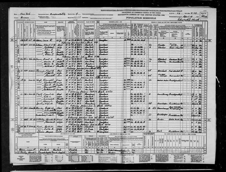 Census 1940 Bierer
