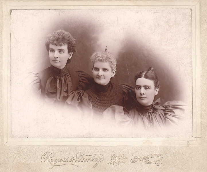 Mary Louise Roberts Eastman,  Charlotte Roberts Treadwell, Fanny Roberts - October 1894