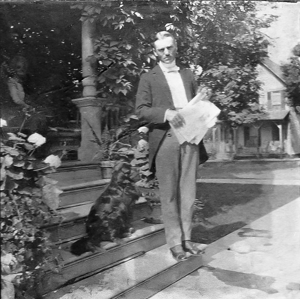 Merritt E Treadwell, son of Ezra S. Treadwell and Edith P. Meacham Treadwell. Merritt is the father of Mable Treadwell, who is to marry H Elliott Marean