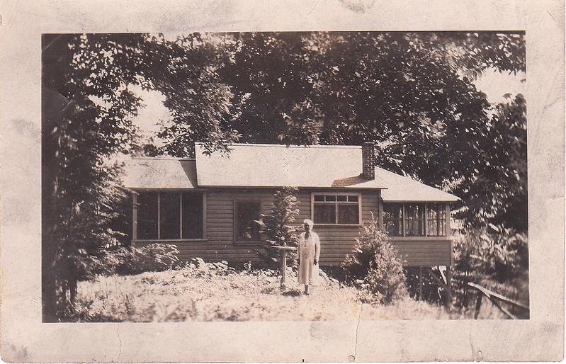 Fanny Roberts at her Genaganslet Creek cottage near Greene, NY