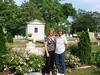 Vickie and Suzette near Marsh grave in Atlanta