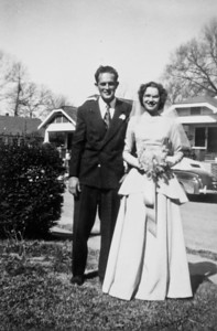 Rip Smock and Maria Jacob at Frieda and Bob Wick's wedding February 4, 1947