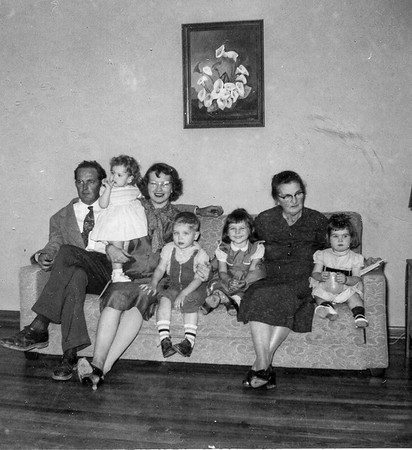 Smock Family Rip, Jeanne, Maria, Jim, Jan, Agnes, Pat February 5, 1956