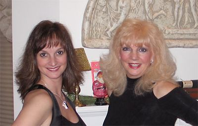 Nicole and Marie Claire are ready for New Year's Eve 2004