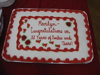 Marilyns Retirement 2009