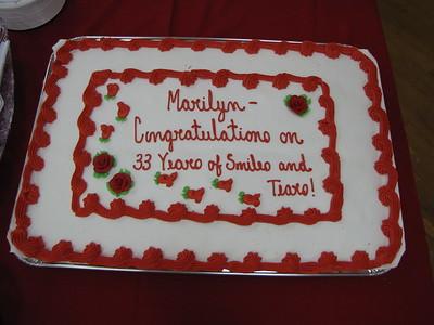 Marilyn's Retirement