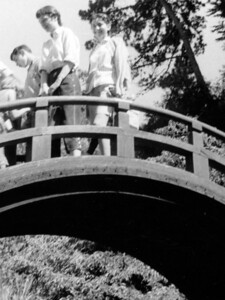 Japanese Tea Garden 1957. Is that Lois on the right? Or maybe Myrna?