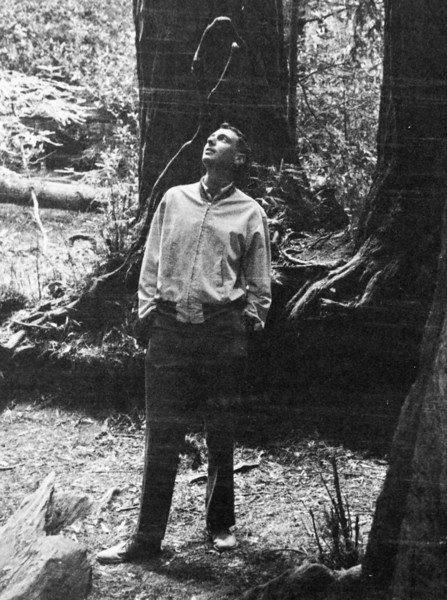 Naphtali, Muir Woods, 1957. I definitely recognize and remember the canvas jacket and the buck shoes.