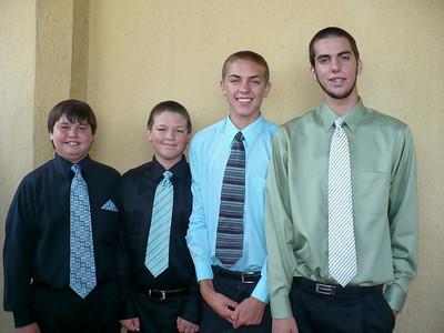 Gifford cousins -- Wyatt Gifford, Dillon and Cody Lunde, Ryan Gifford