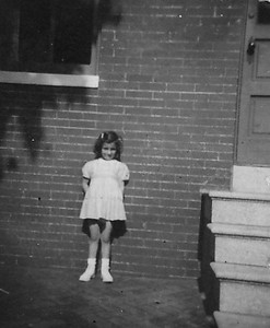 Aunt JoAnn's first born:  Shirley Schwartz Born:  ? In this picture, it looks like Shirl is about 4 years old.  What a cutie. Location:  Unknown.