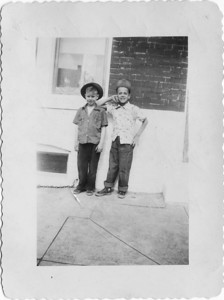 Cousin Ed and a friend.  He was about 7 years old, around 1947.   Washington Street, Baltimore.