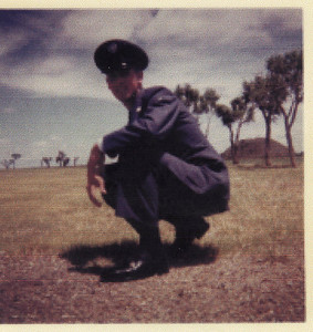 Cousin Ed while in the Air National Guard.  June, 1962