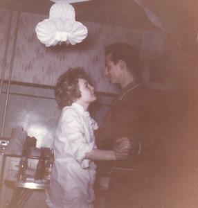 A beautifully sweet moment between Cousin Ed and Carol.  Maybe mid to late 60's?