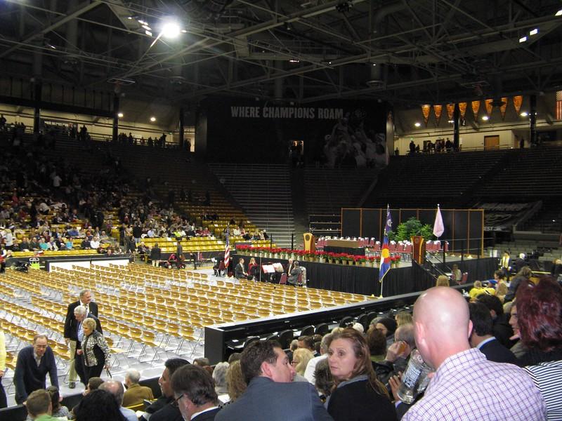 We had good seats near where Marissa sat.