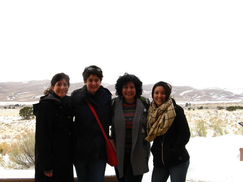 The road warriors. Lisa, Marissa, Christine and Marla.
