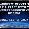 Family dinner with Mark & Traci, Tue., Aug. 15, 2017 ~~ Schuettes/Downings, Willie & Mia