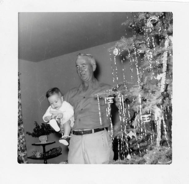 First Christmas with Grandpa Gurecky (Joe)
