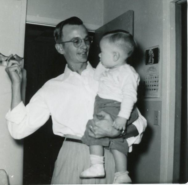 Mark and Johnnie Vacek - first haircut