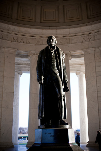 The Jefferson statue. Digital, Washington, DC, March 2014. Mark