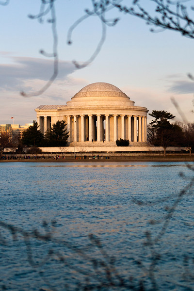 Jefferson Memorial from across the tidal basin. Digital, Washington, DC, March 2014. Ed