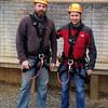 Mark and I pre zip lining. River Riders, Harpers Ferry, West Virginia. Digital, March 2014.