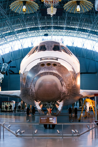 Another shot of the shuttle at the Udvar-Hazy Air & Space Museum. Digital, Washington, DC, March 2014. Mark