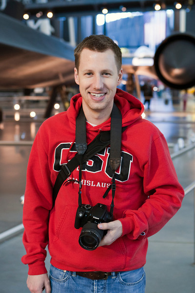 Mark standing in front of the SR-71. Udvar-Hazy Air & Space Museum. Digital, Washington, DC, March 2014. Ed