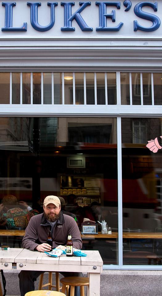 Ed eating lobster rolls in DC. Digital, Washington, DC, March 2014. Mark