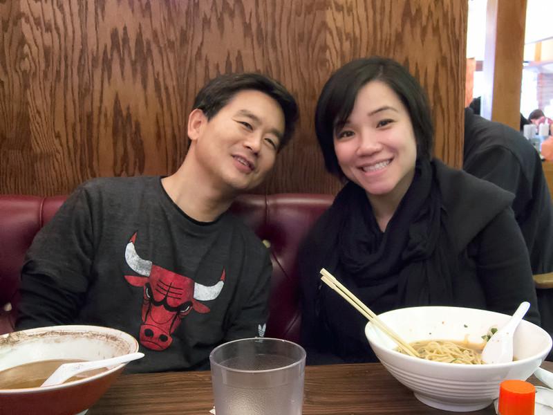 I had the Kuro ramen... yummy! Ly had the vegetarian ramen. What no meat? No wonder she didn't finish it.