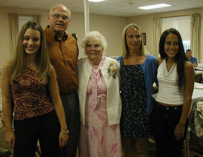 Sylvia with her Son, Granddaughter, and Great-Grandaughters