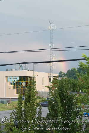 A rainbow from our hotel window.