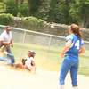 The game ended on this risky play.  With 2 outs in the final inning, and down 1-0, the Girls High runner on 2nd base attempted to steal 3rd base.