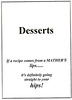Desserts - Title Page