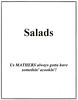 Salads - Title Page