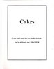Cakes - Title Page