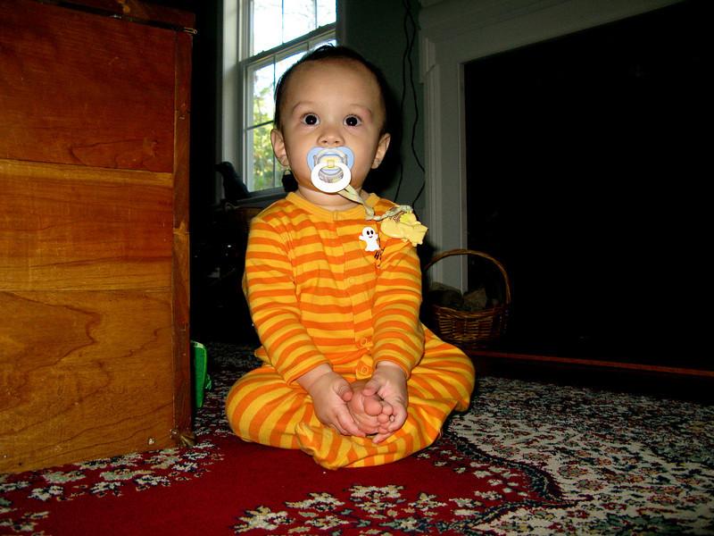 Matthew's meditation pose.