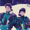 Matt at 10 years old with his brother skiing at Heavenly Valley